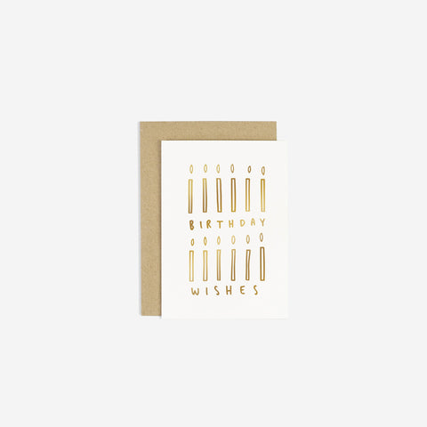 SIMPLE FORM. - Old English Company - Card Birthday Wishes Candles - Greeting Card