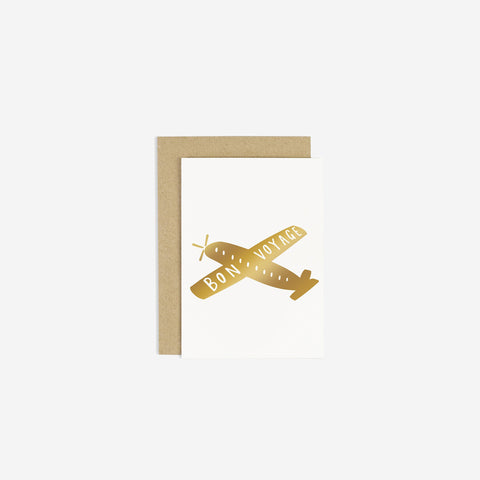 SIMPLE FORM. - Old English Company - Card Bon Voyage Airplane - Greeting Card