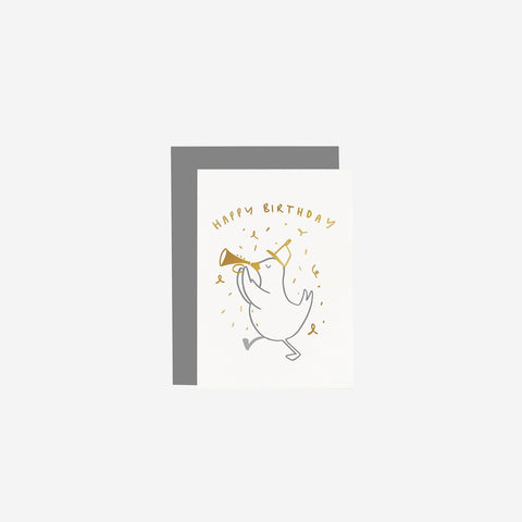 Old English Company - Card Children's Bird Birthday - Greeting Card  SIMPLE FORM.
