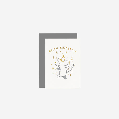 Old English Company - Card Children's Mouse Birthday - Greeting Card  SIMPLE FORM.