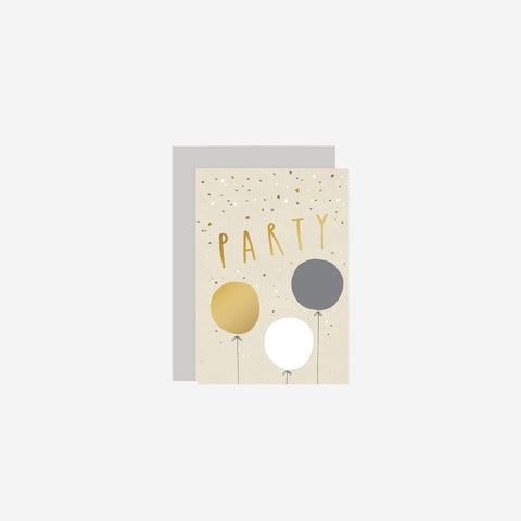 SIMPLE FORM. - Old English Company - Party Balloons Card - Greeting Card