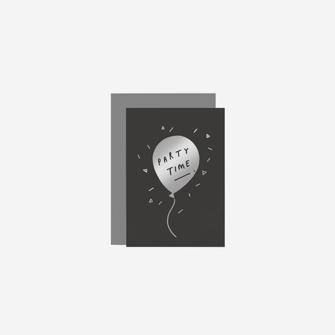 SIMPLE FORM. - Old English Company - Party Time Balloon Card - Greeting Card