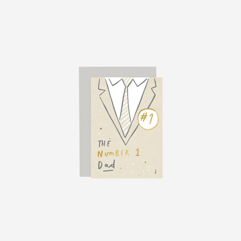 SIMPLE FORM. - Old English Company - No.1 Father Card - Greeting Card