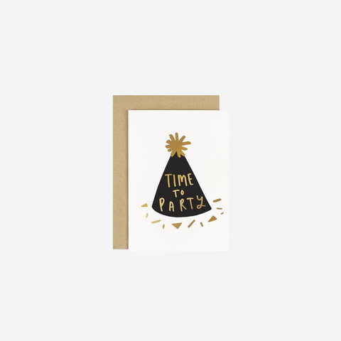 SIMPLE FORM. - Old English Company - Card Time To Party Hat - Greeting Card