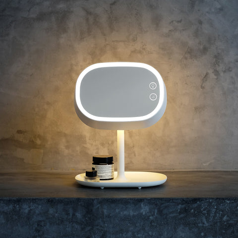 One Simple Concept - Make-Up Vanity Mirror Lamp White - Table Lamp  SIMPLE FORM.