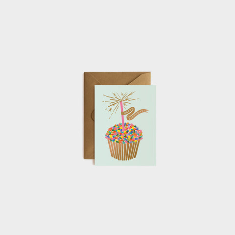 SIMPLE FORM. - Rifle Paper Co - Card Cupcake Birthday - Greeting Card