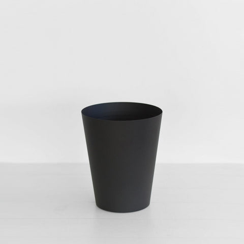 Yamazaki - Tower Rubbish Bin Round Black - Waste Bin  SIMPLE FORM.