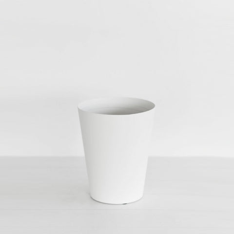 SIMPLE FORM. - Yamazaki - Tower Rubbish Bin Round White - Waste Bin
