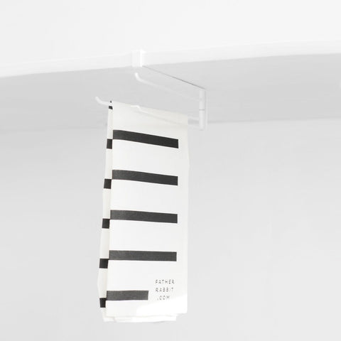 SIMPLE FORM.-Yamazaki Tower Under Shelf Hanger White Kitchen Organisation