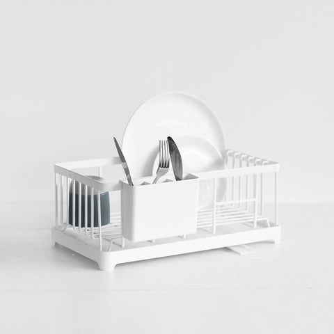 SIMPLE FORM. - Yamazaki - Tower Dish Drainer Rack White - Drainer