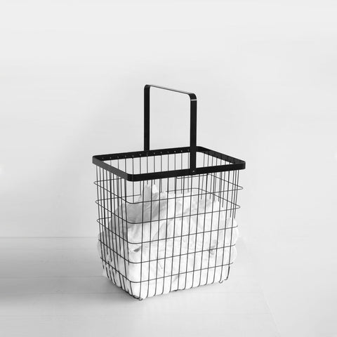 SIMPLE FORM.-Yamazaki Tower Wire Basket Black Kitchen Organisation