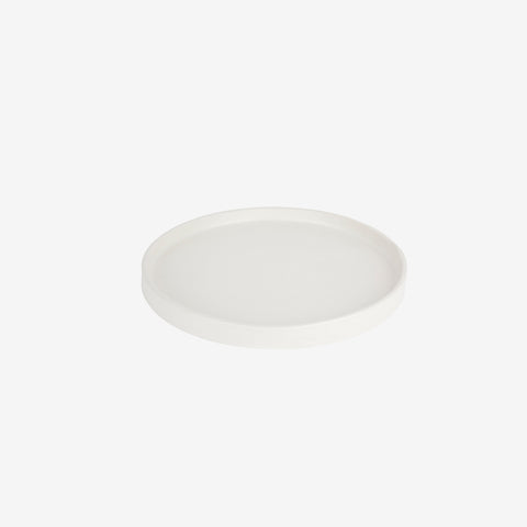 Zakkia - Zakkia Tab Plate Large White - Vessel  SIMPLE FORM.