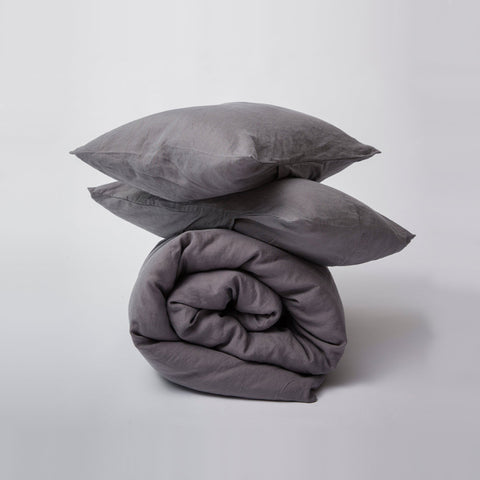 SIMPLE FORM. - Cultiver - Duvet Cover Charcoal - Bedding