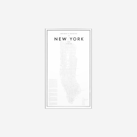 My Guide To - 2016 Guide to Manhattan Print  - SIMPLE FORM.