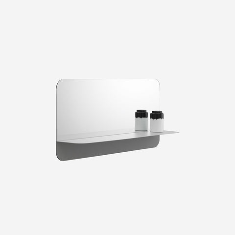 SIMPLE FORM. - Normann Copenhagen - Horizon Mirror Horizontal Grey - Mirror