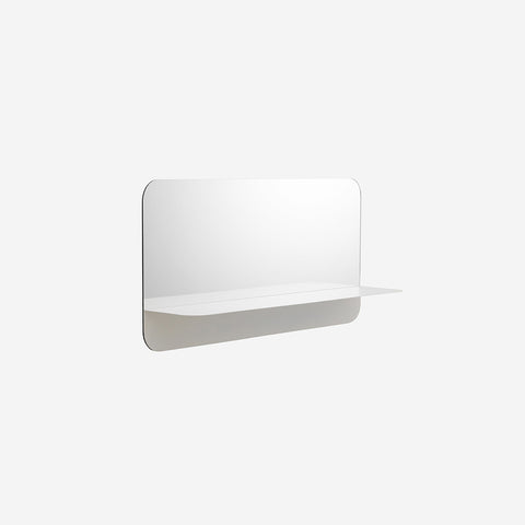 SIMPLE FORM.-Normann Copenhagen Horizon Mirror Horizontal White Mirror