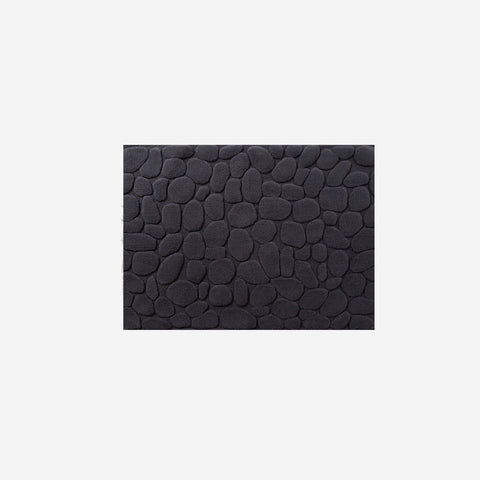 SIMPLE FORM. - Ottaipnu - Ishikoro Pebble Bath Mat Charcoal - Bath Mats