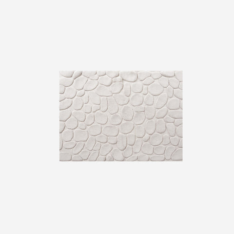 SIMPLE FORM.-Ottaipnu Ishikoro Pebble Bath Mat Beige Bath Mats