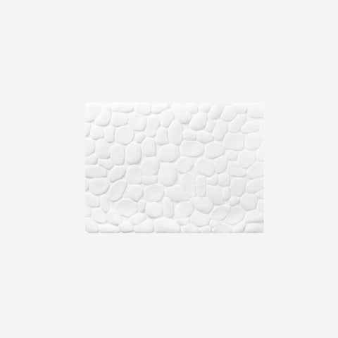 SIMPLE FORM.-Ottaipnu Ishikoro Pebble Bath Mat White Bath Mats