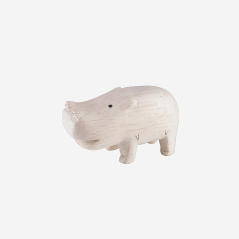 T-Lab - Pole Pole Animal Hippopotamus - Wooden Toy  SIMPLE FORM.