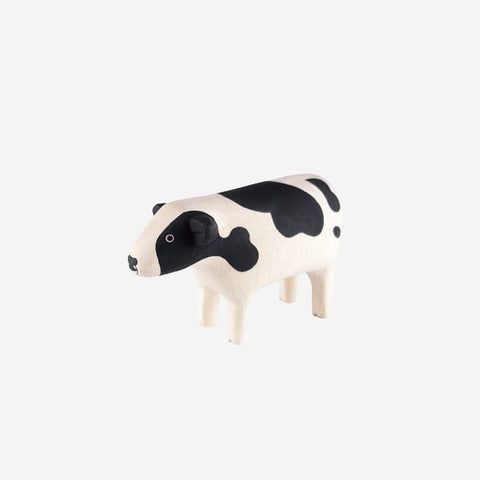 T-Lab - Pole Pole Animal Cow - Wooden Toy  SIMPLE FORM.