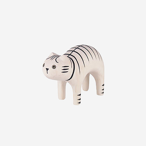 T-Lab - Pole Pole Animal Striped Cat - Wooden Toy  SIMPLE FORM.