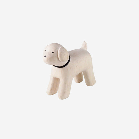 T Lab Polepole toy poodle. Wooden toy.