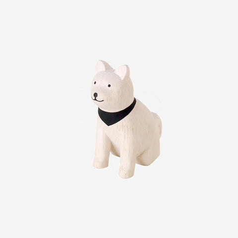 T-Lab - Pole Pole Animal Akita Dog - Wooden Toy  SIMPLE FORM.