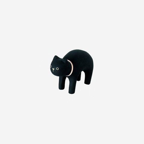 T-Lab - Pole Pole Animal Black Cat - Wooden Toy  SIMPLE FORM.