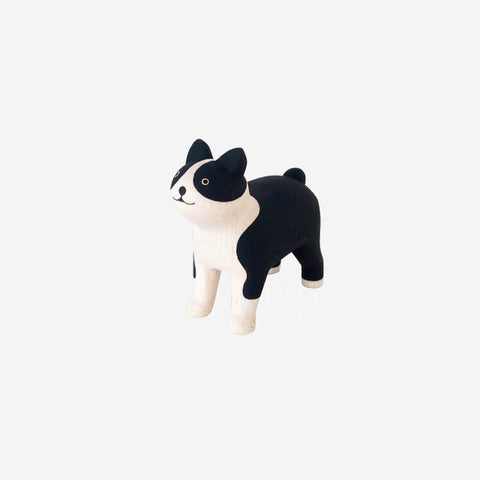 T-Lab - Pole Pole Animal Boston Terrier - Wooden Toy  SIMPLE FORM.