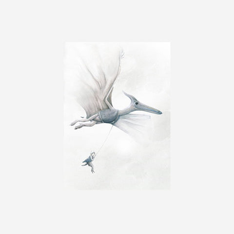 Winter Avenue Press - Pterodactyl Dinosaur Print Art Prints  - SIMPLE FORM.