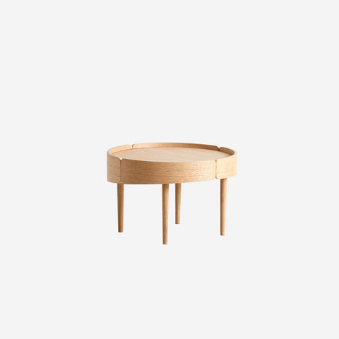 SIMPLE FORM.-WOUD Skirt Coffee Table Oak Table