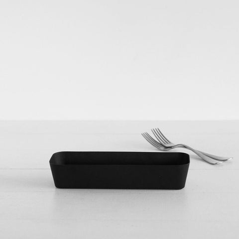 SIMPLE FORM.-Yamazaki Tower Cutlery Case Black Cutlery Case