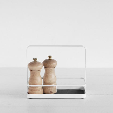 SIMPLE FORM. - Yamazaki - Tower Seasoning Rack White - Spice Rack