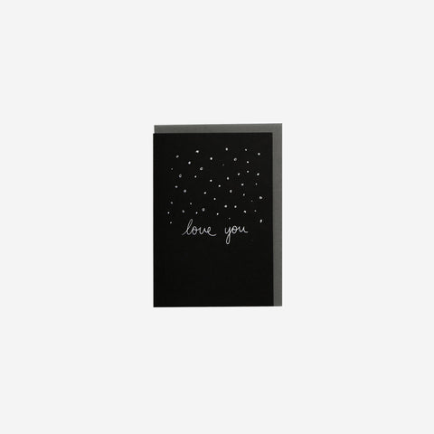 SIMPLE FORM.-Me and Amber Card Confetti Love You Greeting Card