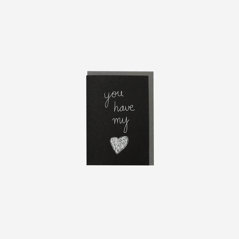 SIMPLE FORM.-Me and Amber Card You Have My Heart Card