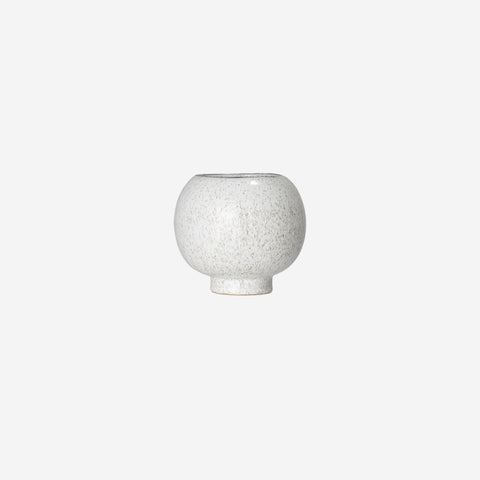 SIMPLE FORM. - Bloomingville - Round Speckled Vase - Pot