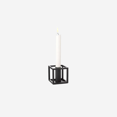 By Lassen - Kubus 1 Candle Holder Black - Candleholder  SIMPLE FORM.