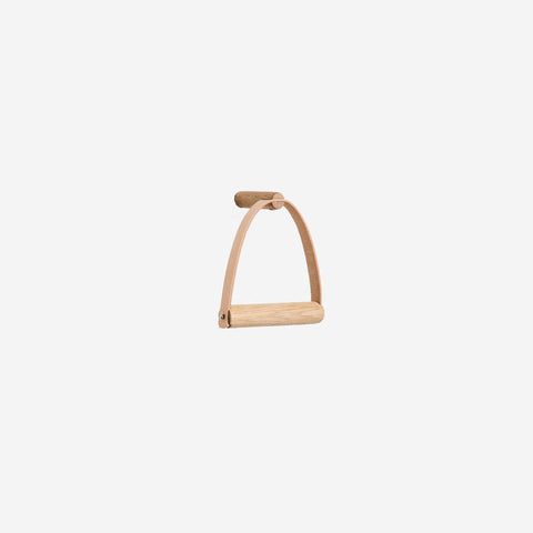 SIMPLE FORM. - By Wirth - Natural Leather Toilet Paper Holder - Toilet Paper Holder