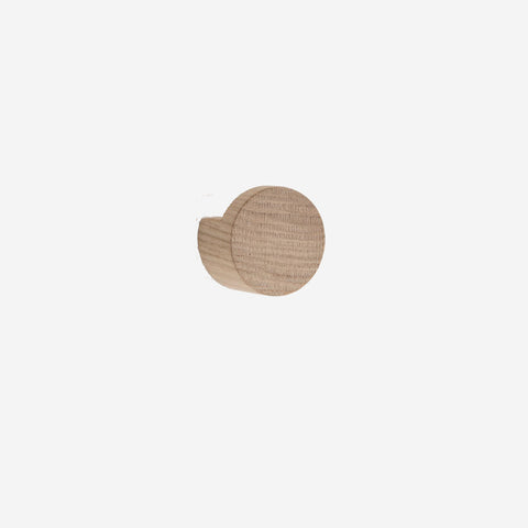 SIMPLE FORM. - By Wirth - Oak Wood Knot Hook Large - Wall Hooks