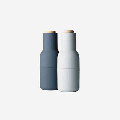 SIMPLE FORM.-Menu Bottle Grinders Blue Salt & Pepper Mills