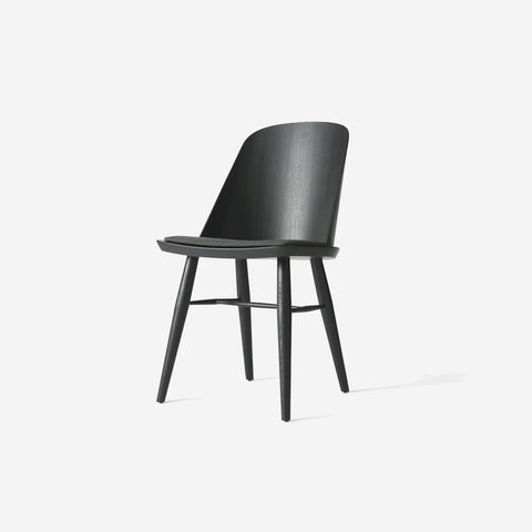 SIMPLE FORM.-Menu Synnes Chair Upholstered Black Ash Chair