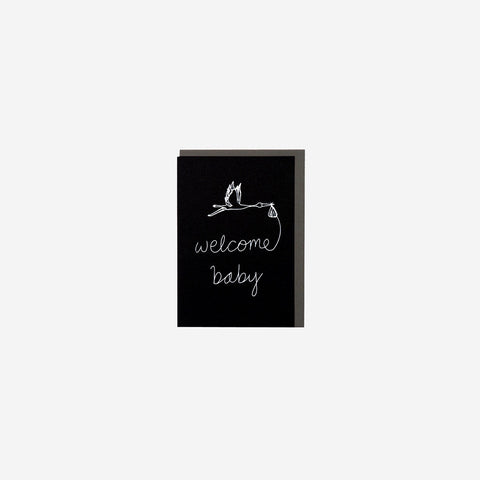 SIMPLE FORM.-Me and Amber Card Welcome Baby Card