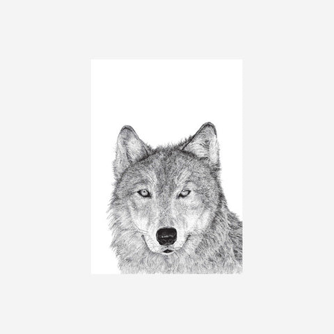 SIMPLE FORM. - Danielle Sandeman - Vivian the Wolf Print - Print