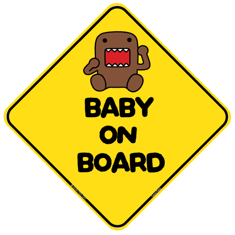 Domo Baby On Board Sign