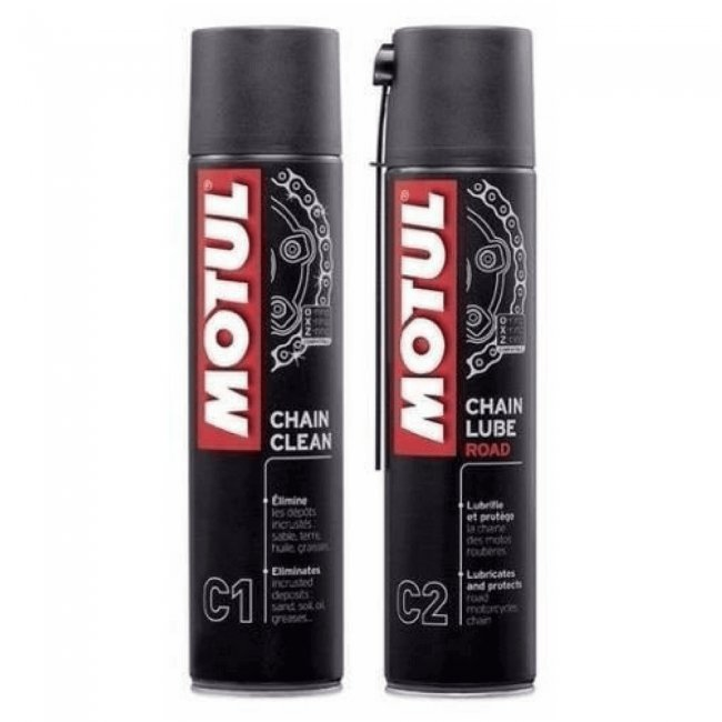 Motul Chain Clean Lube Combo 400ml - Moto Trailers