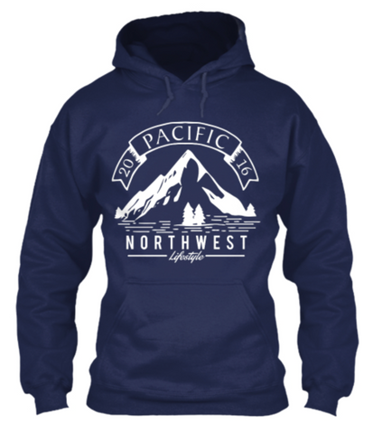 Pacific NorthWest Vintage Mountain Unisex Hoodie