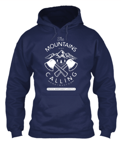 Pacific NorthWest The Mountains Are Calling Vintage Hoodie