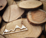 PNW Gold & Silver Mountain Hiking Necklace (FREE SHIPPING) - Pacific NorthWest Lifestyle