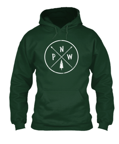 Pacific NorthWest Pine Hoodie - Pacific NorthWest Lifestyle